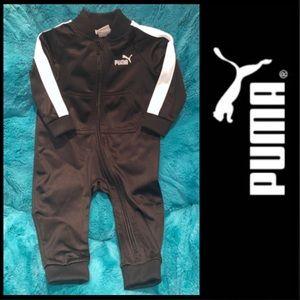 Puma Infant Boys Zip-up Jumpsuit Black 6-9 mos NEW